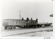 Another view of the first freightcar of...